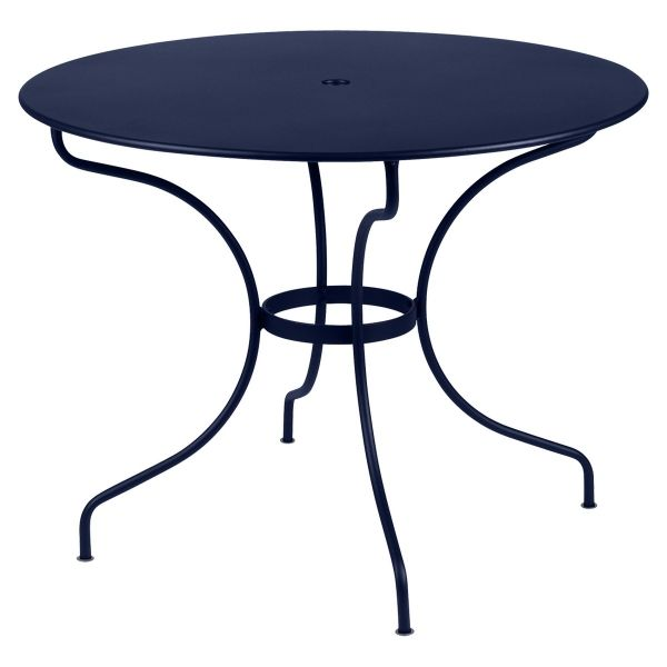 Fermob Opera Round Table 96cm in Deep Blue