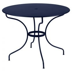 Opera Round Outdoor Table 96cm in colour Deep Blue from Opera Collection