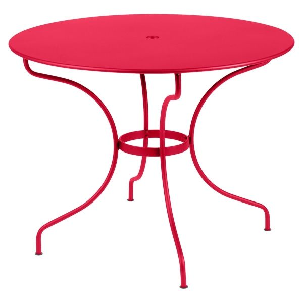 Fermob Opera Round Table 96cm in Pink Praline