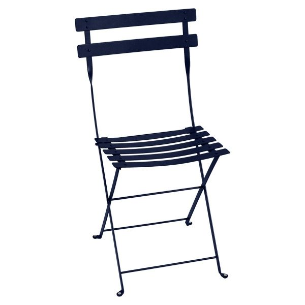 Fermob Bistro Folding Chair in Deep Blue