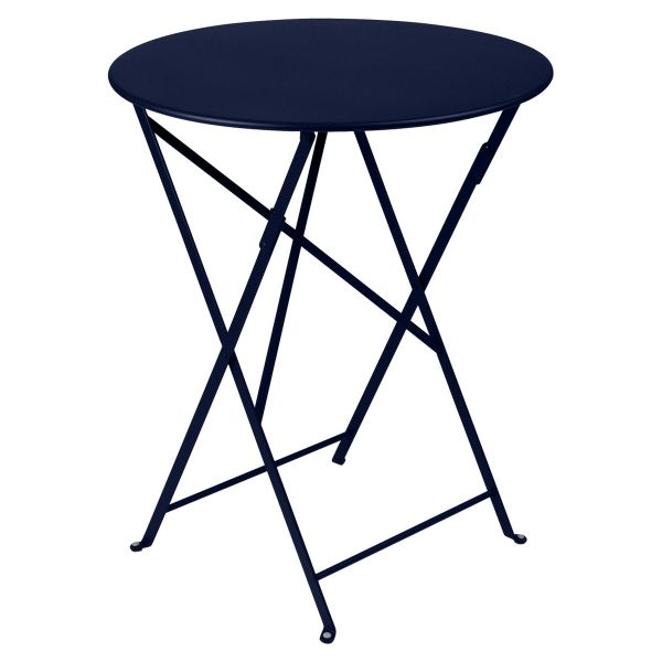 Fermob Bistro Table Round 60cm in Deep Blue