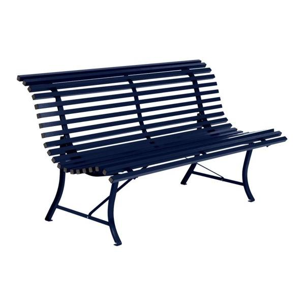 Fermob Louisiane Bench 150cm in Deep Blue
