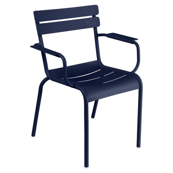 Fermob Luxembourg Armchair in Deep Blue