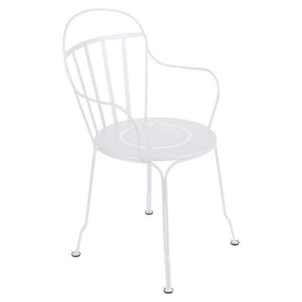 Fermob Louvre Armchair in Cotton White