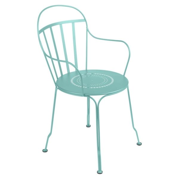 Fermob Louvre Armchair in Lagoon Blue