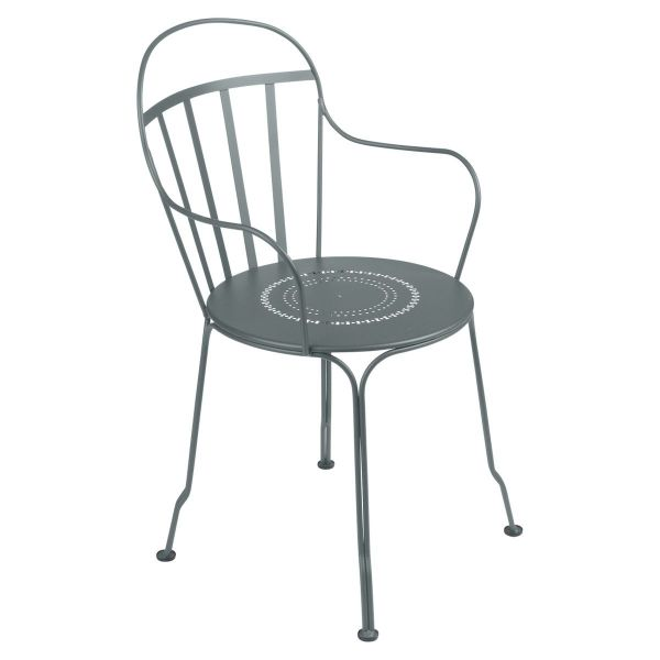 Fermob Louvre Armchair in Storm Grey
