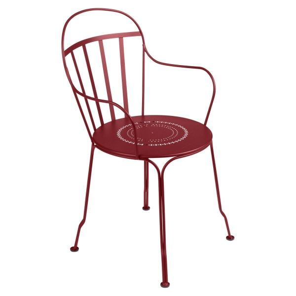 Fermob Louvre Armchair in Chilli