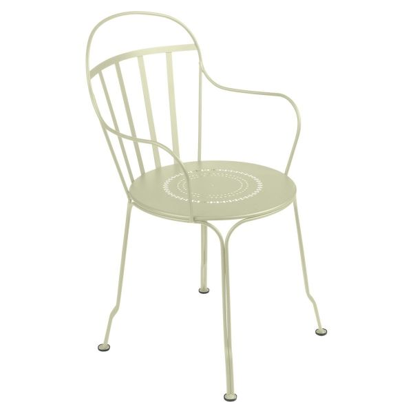 Fermob Louvre Armchair in Willow Green