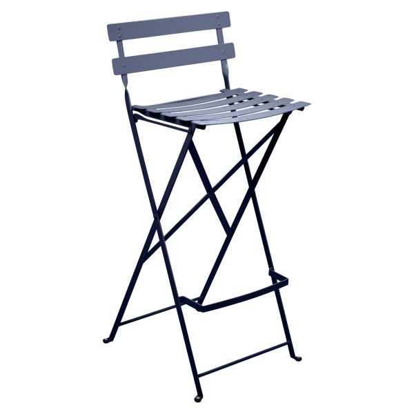 Fermob Bistro High Stool in Deep Blue