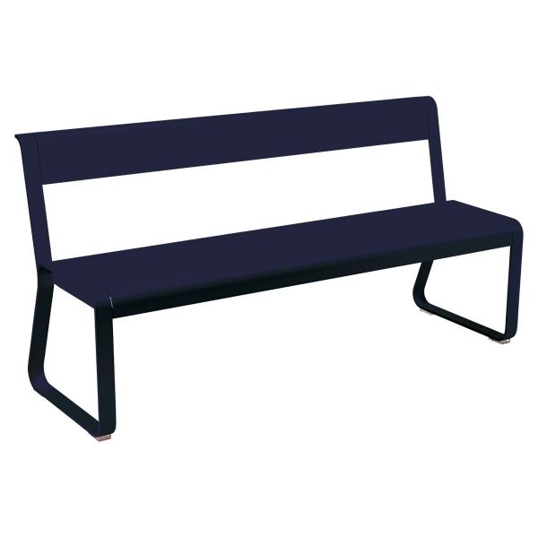 Fermob Bellevie Bench with Back in Deep Blue
