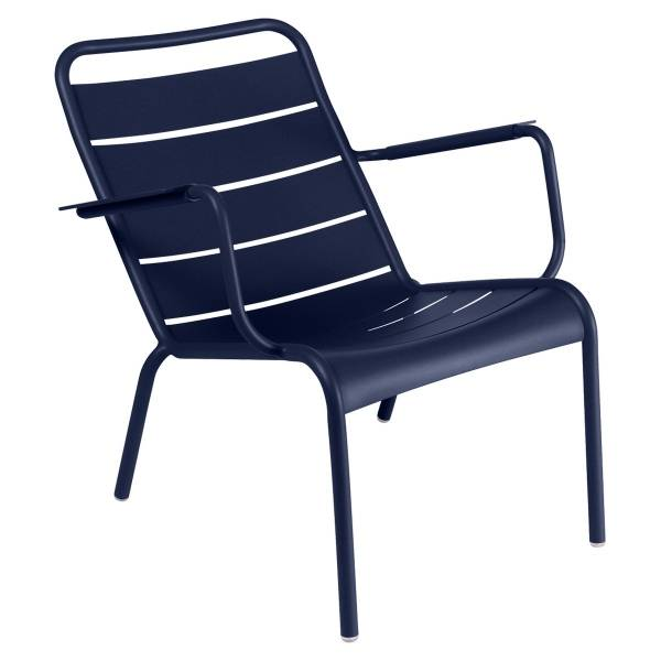 Fermob Luxembourg Low Armchair in Deep Blue