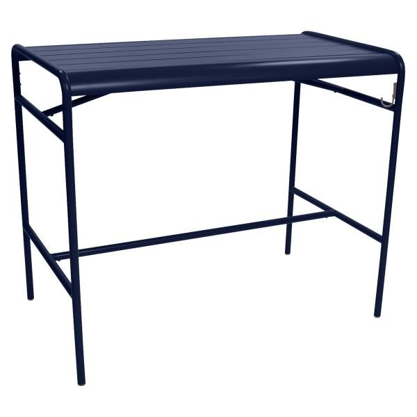 Fermob Luxembourg High Table 126 x 73cm in Deep Blue