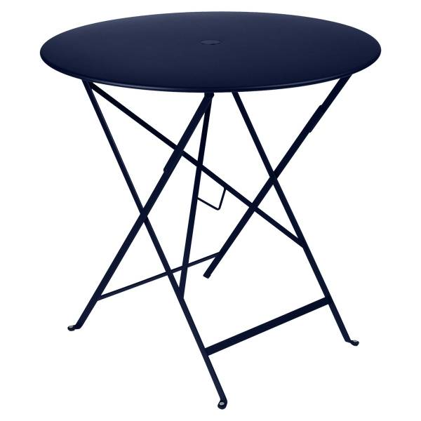 Fermob Bistro Table Round 77cm in Deep Blue