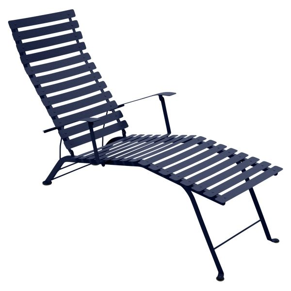 Fermob Bistro Deck Chair in Deep Blue