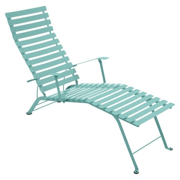 Fermob Bistro Deck Chair in Lagoon Blue
