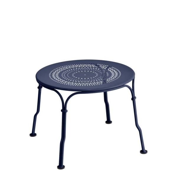 Fermob 1900 Low Table in Deep Blue