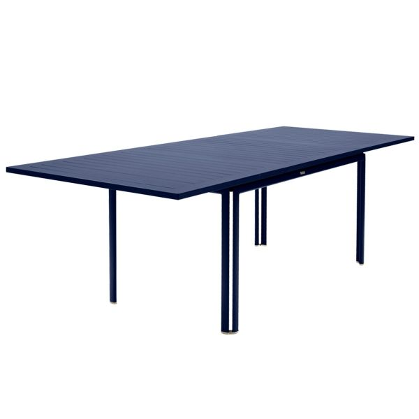 Fermob Costa Extending Table 160 to 240cm x 90cm in Deep Blue