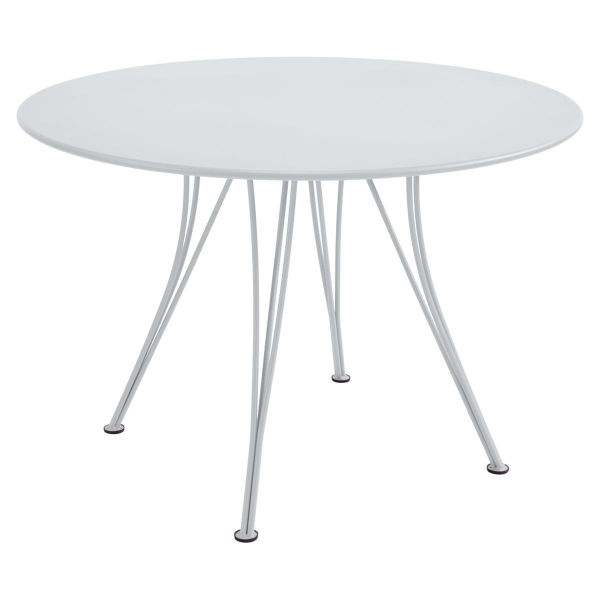 Fermob Rendez-vous Table Round 110cm in Cotton White
