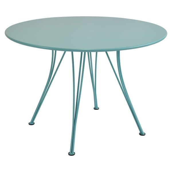 Fermob Rendez-vous Table Round 110cm in Lagoon Blue