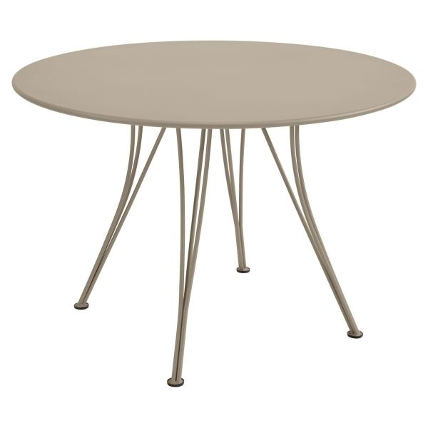Fermob Rendez-vous Table Round 110cm in Nutmeg