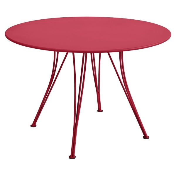 Fermob Rendez-vous Table Round 110cm in Pink Praline