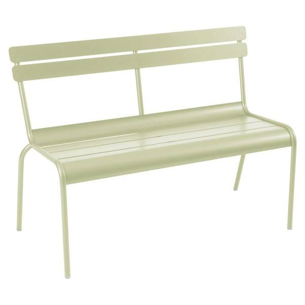 Fermob Luxembourg Bench with Back in Willow Green