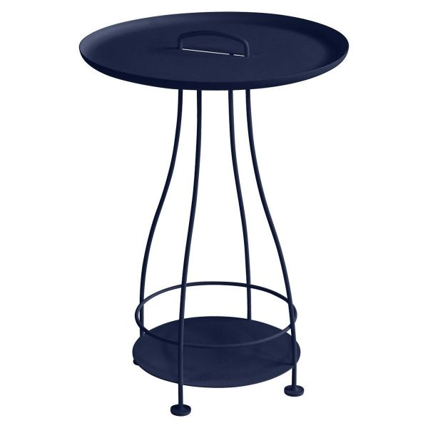 Fermob Happy Hours Pedestal Table in Deep Blue