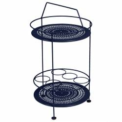 Montmartre Portable Garden Side Bar Table in colour Deep Blue from Montmartre French Garden Furniture
