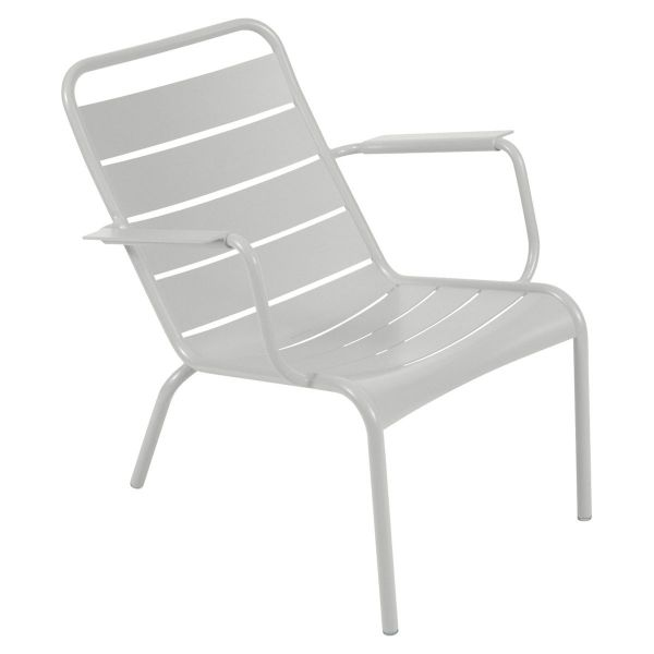 Fermob Luxembourg Low Armchair in Steel Grey