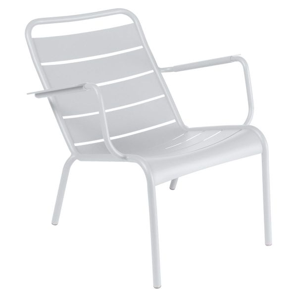 Fermob Luxembourg Low Armchair in Cotton White