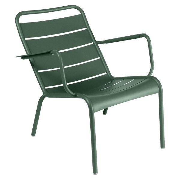 Fermob Luxembourg Low Armchair in Cedar Green