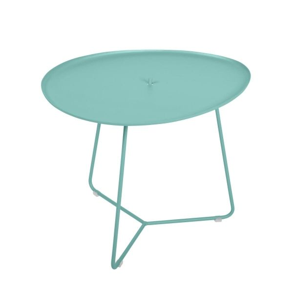 Fermob Cocotte Low Table in Lagoon Blue