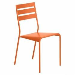 Facto Chair in colour Carrot from Facto Collection