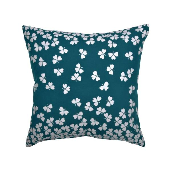 Fermob Trefle Cushion 44 x 44cm in Duck Blue