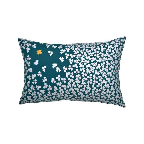 Fermob Trefle Cushion - 68 x 44cm in Duck Blue