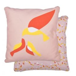 Ava Cushion 44 x 44cm in colour Powder Pink from Ava Collection