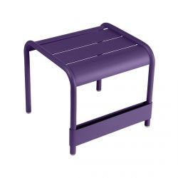 Luxembourg Small Low Table And Foot Rest in colour Aubergine from Luxembourg Modern Outdoor Furniture