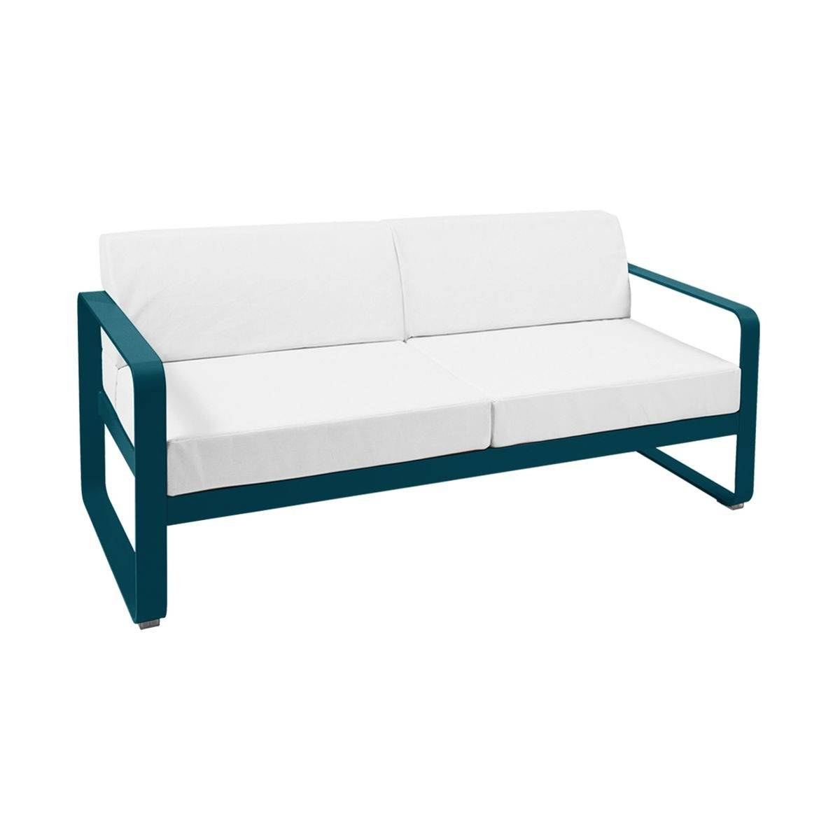 Prime Fermob Bellevie 2 Seat Sofa Off White Cushions Outdoor Gmtry Best Dining Table And Chair Ideas Images Gmtryco