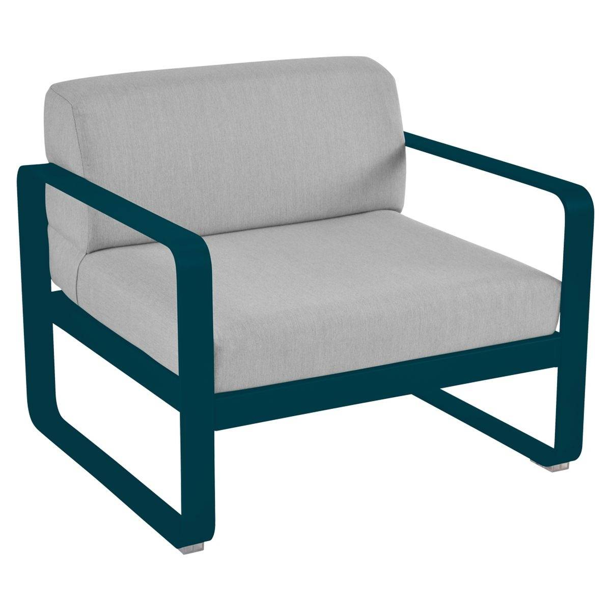 Bellevie Contemporary Outdoor Armchair Grey Cushions Bellevie