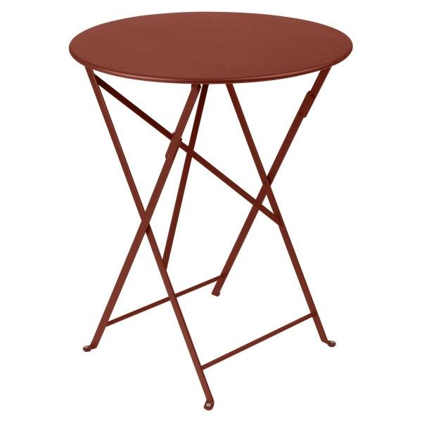 Fermob Bistro Table Round 60cm in Red Ochre