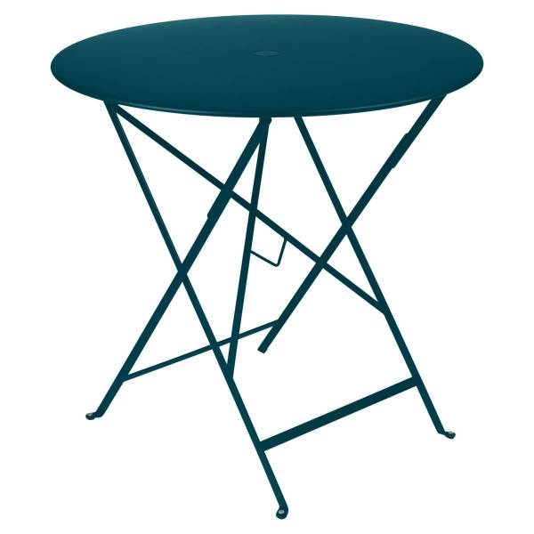 Fermob Bistro Table Round 77cm in Acapulco Blue
