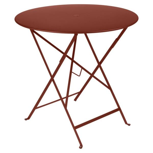 Fermob Bistro Table Round 77cm in Red Ochre