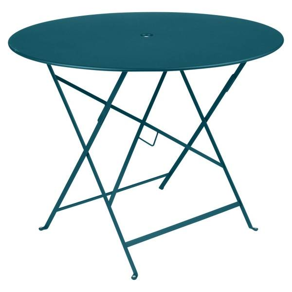 Fermob Bistro Table Round 96cm in Acapulco Blue