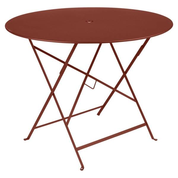 Fermob Bistro Table Round 96cm in Red Ochre