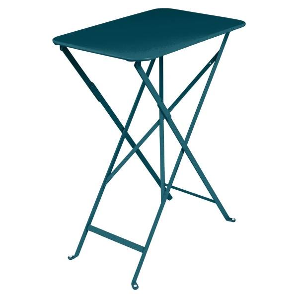 Fermob Bistro Table Rectangle 57 x 37cm in Acapulco Blue