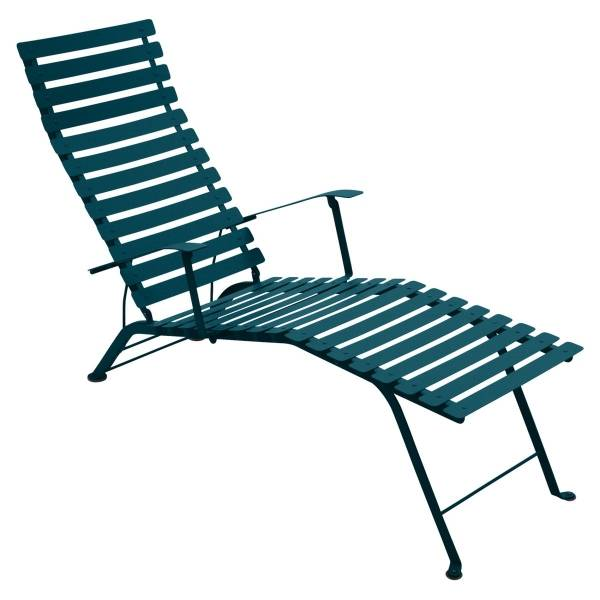 Fermob Bistro Deck Chair in Acapulco Blue