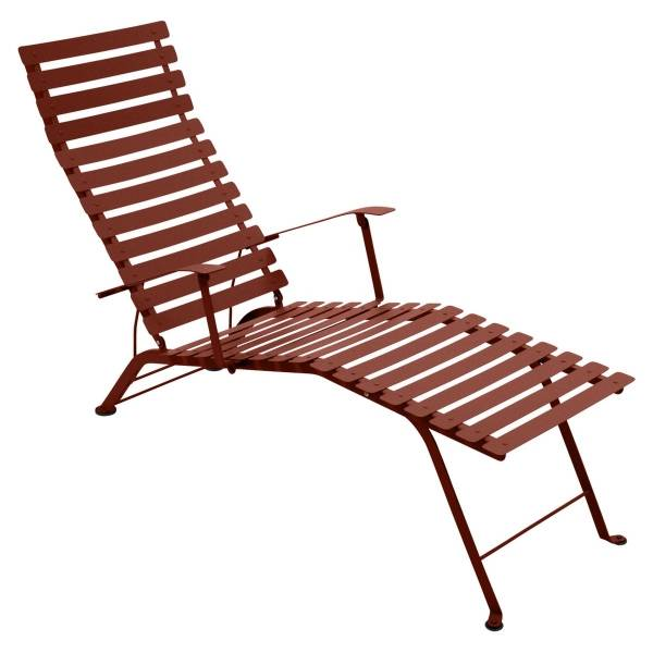 Fermob Bistro Deck Chair in Red Ochre