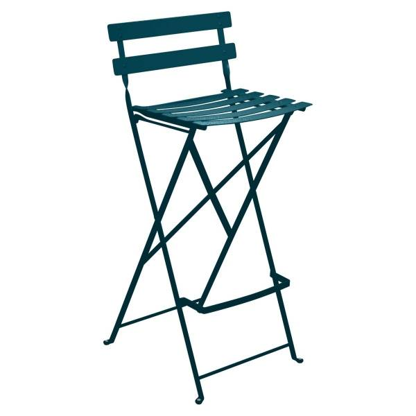 Fermob Bistro High Stool in Acapulco Blue