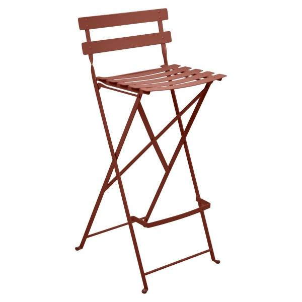 Fermob Bistro High Stool in Red Ochre