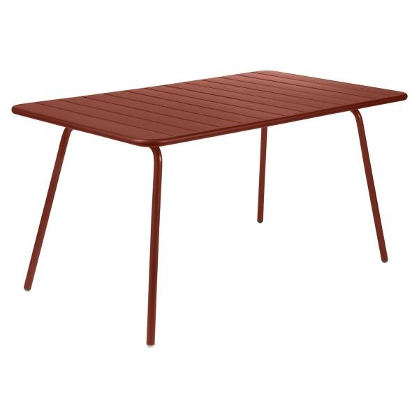 Fermob Luxembourg Table 143 x 80cm in Red Ochre